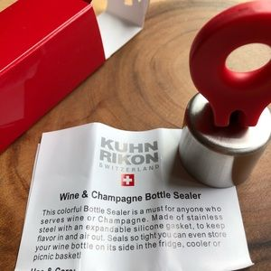 NIB Kuhn Rikon Wine and Champagne Bottle Sealer